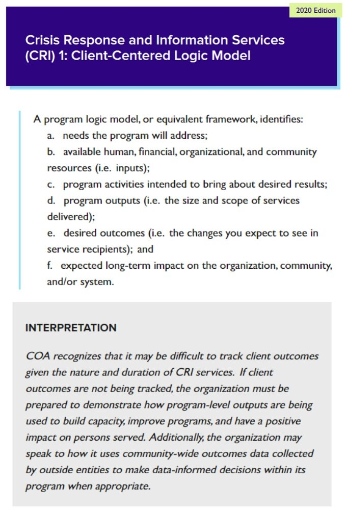 Cris Response and Information Services (CRI) 1