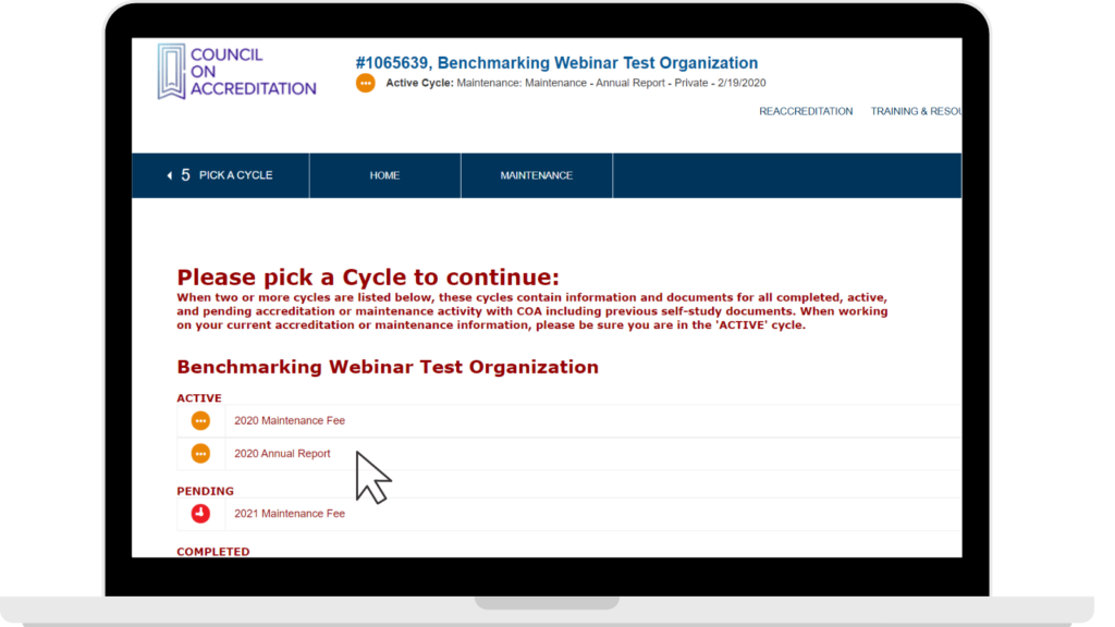Picking an annual report cycle